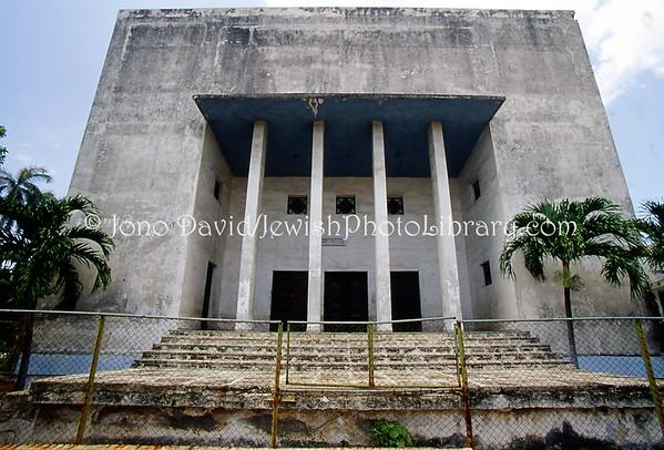 CUBA, Havana. Centro Hebreo Sefardi de Cuba, Vedado. (2008)