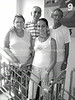 CU-D 194  Daisy and Jose Barlia Loyarte with daughter, Ivonne, and R, Julito Rodrigues Eli