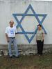 CU-D 241  L, Alberto Heller, synagogue caretaker, and Eugenia Farin Levy, community president