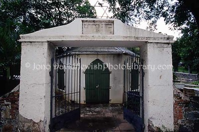 ST. THOMAS (US Virgin Islands), Charlotte Amalie. Altona Jewish Cemetery (consecrated 1837). (2007)