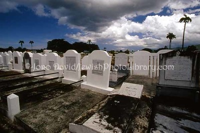 TRINIDAD, Port-of-Spain, St. James. Jewish sector at Woodbrook Cemetery, a.k.a. Mucurapo Road Cemetery. (2007)