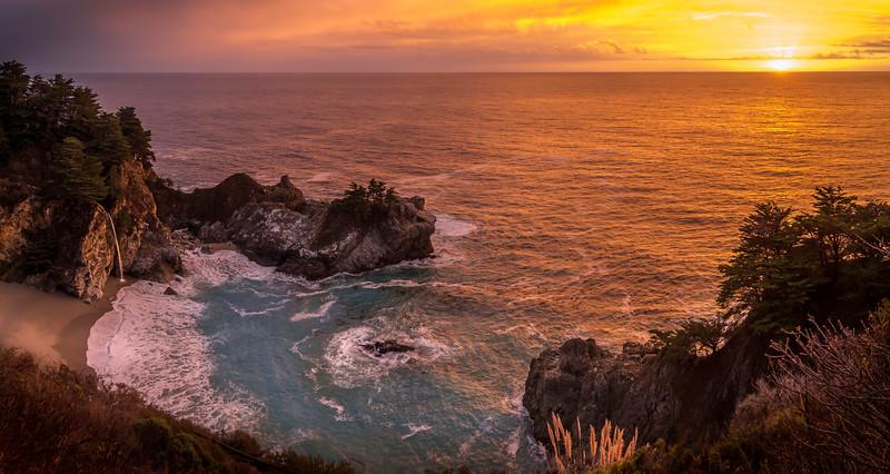 McWay Falls sunset, Big Sur