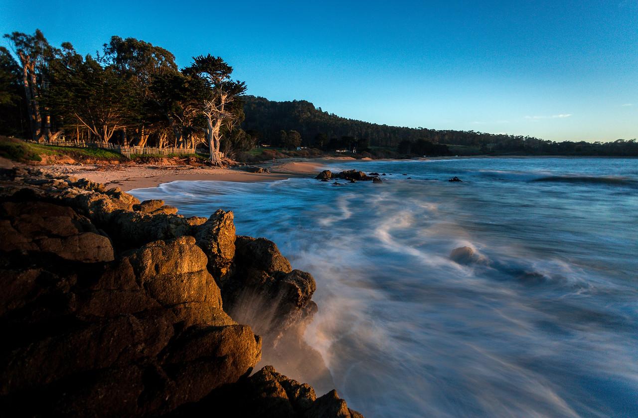 Monastery Beach cypress seascape