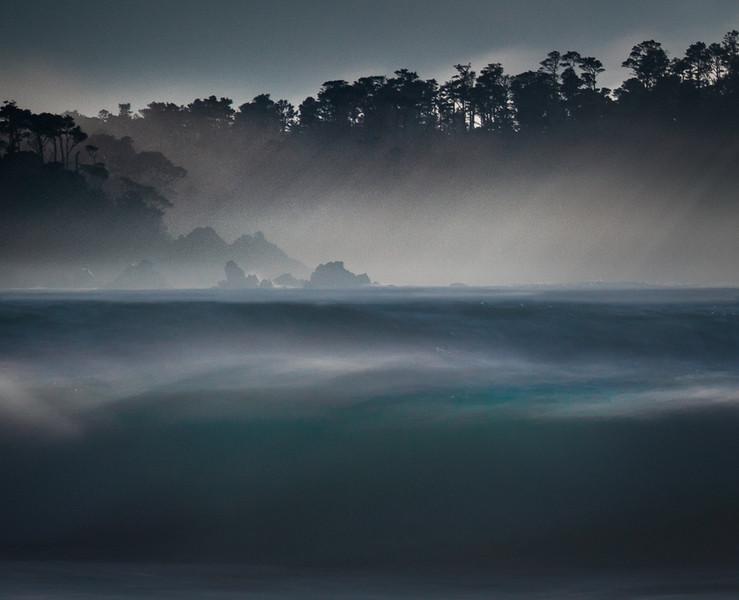Lobos Sun, Fog, Wave