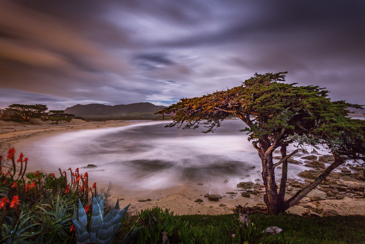 Carmel River Beach nightscape