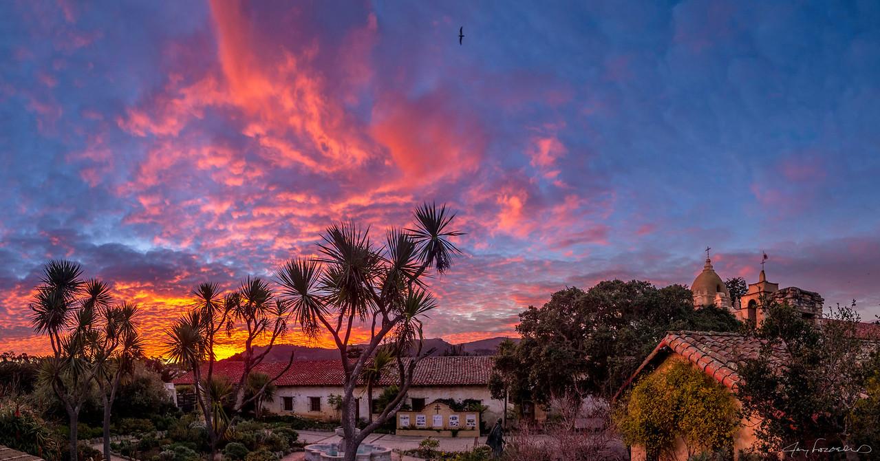 Carmel Basilica Mission at sunrise