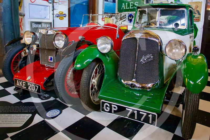 MG J2 1932 & Austin 7 Swallow 1929. Cotswold Motoring Museum, Bourton-on-the-Water