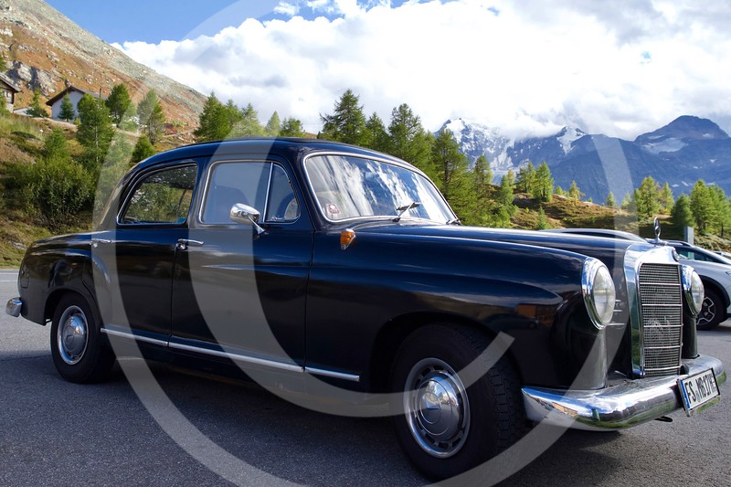 Mercedes-Benz 180b (W120) 1953,  Simplon Pass, Simplon, Switzerland