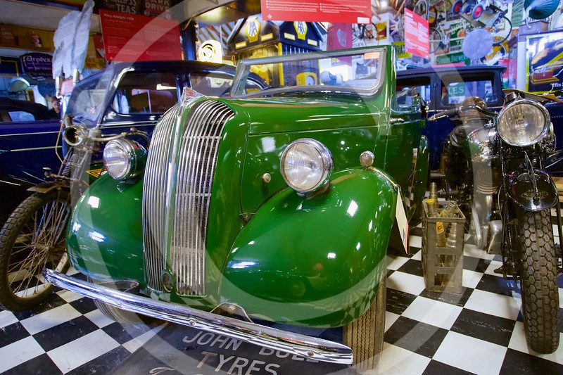 Standard Eight 1946. Cotswold Motoring Museum, Bourton-on-the-Water