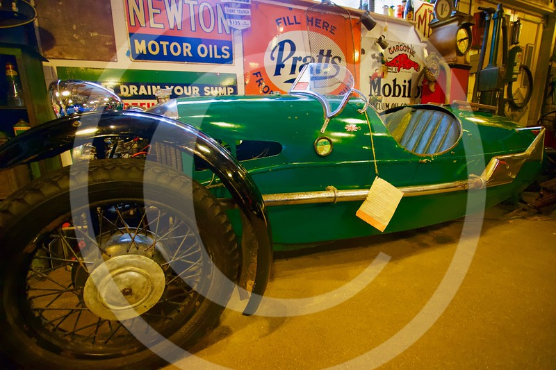 Morgan Super Sports 1936, trike. Cotswold Motoring Museum, Bourton-on-the-Water
