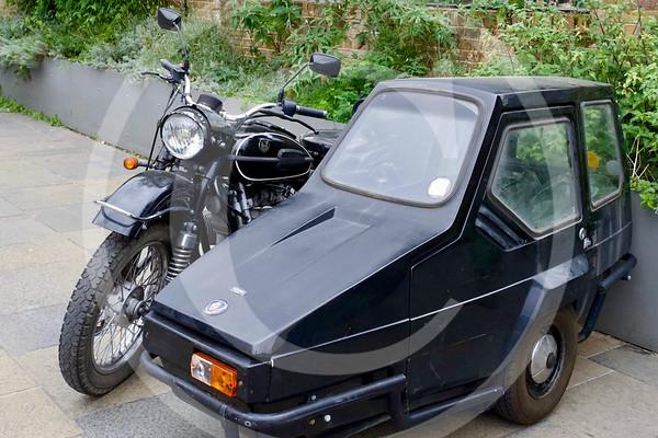 IMZ-Ural 650 Sportsman & sidecar, Greenwich, London.