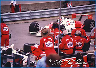 Rick Mears pit stop - 1991 Indy 500