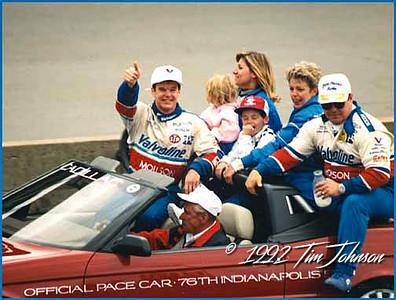 Al Unser Jr. & Rick Galles - Indy 500 Win - 1992