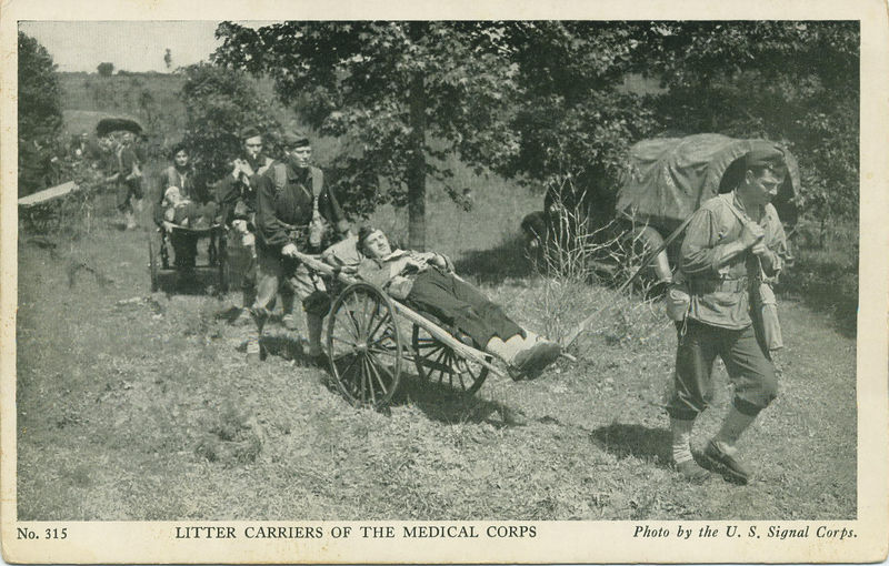 SECOND CART FROM THE FRONT IS THE BICYCLE TYPE CARRIER.<br /> <br /> POSTCARD<br /> <br /> (CLJ COLLECTION)