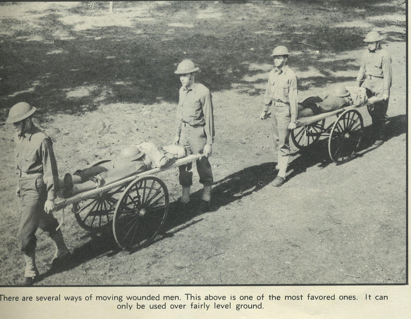 STRETCHER CARTS<br /> <br /> 56th MEDICAL BATTALION<br /> <br /> FORT LEWIS SENTINAL<br /> <br /> VOLUME 1, NUMBER 3<br /> <br /> SCANNED FROM MAGAZINE<br /> <br /> (CRAIG JOHNSON COLLECTION)