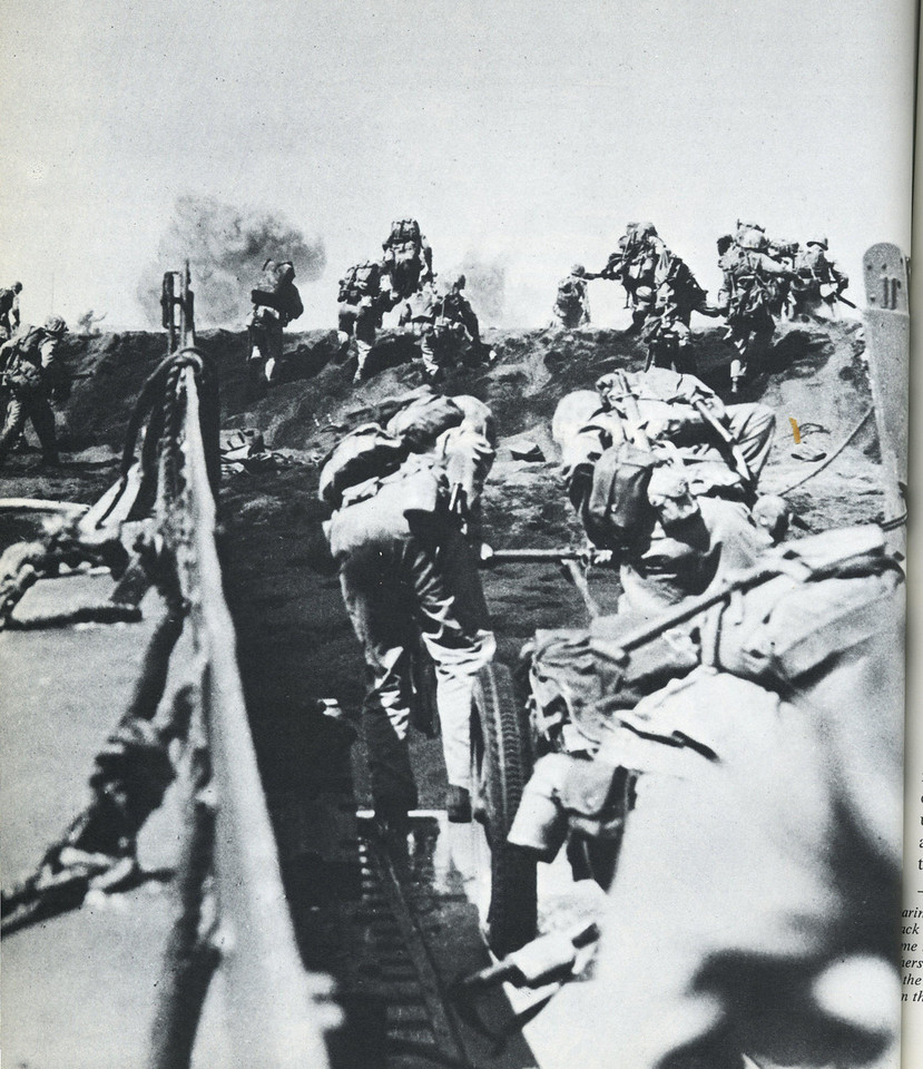 M3A4 CART<br /> MARINES ON THE SANDS OF IWO JIMA<br /> READERS DIGEST ILLUSTRATED STORY OF WORLD WAR 11<br /> SCANNED FROM BOOK <br /> (CLJ COLLECTION)