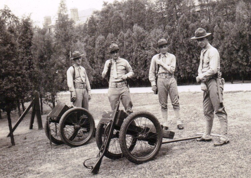 "Marines with their Cole Carts. Photo courtesy of the Tim Brig Collection<br /> <br /> <a href=""http://chinamarine.org/tientsin.aspx"">http://chinamarine.org/tientsin.aspx</a>"
