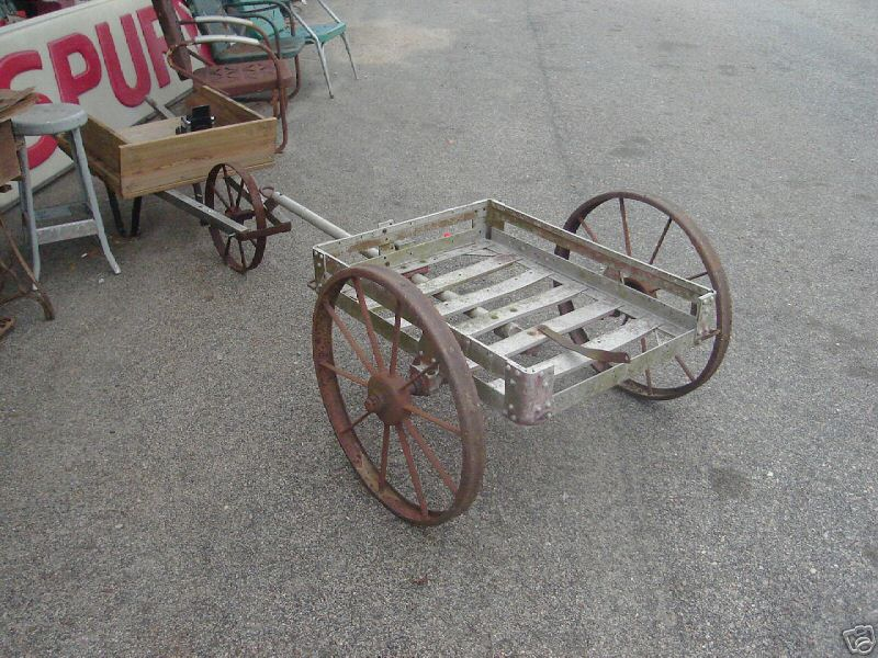 1938 R.I.A. M4 machine gun cart.<br /> <br /> Sitting in front of the Antique store in Alabama