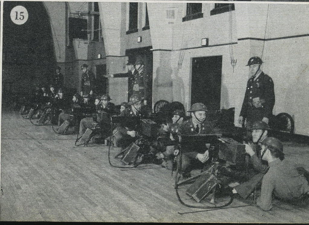 M1 MACHINE GUN MOUNTS R.I.A<br /> <br /> 1940 NATIONAL GUARD OF THE UNITED STATES<br /> <br /> STATE OF ILLINOIS<br /> <br /> HEADQUARTERS DETACHEMENT COMPANY E,F,G,H. SECOND BATTALION 130TH INFANTRY<br /> <br /> SCANNED FROM YEARBOOK/PICTORIAL<br /> <br /> PAGE 167<br />  <br /> (CRAIG JOHNSON COLLECTION)