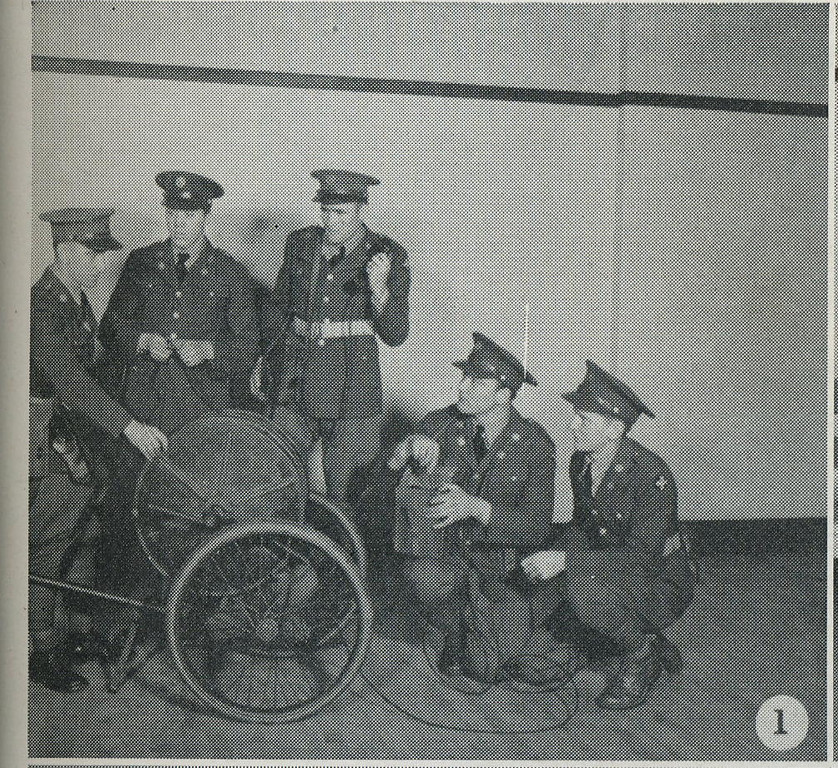 REEL CART RL-16<br /> <br /> 1940 NATIONAL GUARD OF THE UNITED STATES<br /> <br /> STATE OF ILLINOIS<br /> <br /> HEADQUARTERS COMPANY ANTI-TANK PLATOON <br /> <br /> 129TH INFANTRY<br /> <br /> SCANNED FROM YEARBOOK/PICTORIAL<br /> <br /> PAGE 95<br />  <br /> (CRAIG JOHNSON COLLECTION)