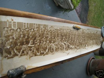 Bidding is for one or the best World War one Photographs I have ever laid my hands on.  A panoramic Photograph of Co. B 2nd Seperate Machine Gun Battalion, USMC Quantico, VA Nov 23 1918.