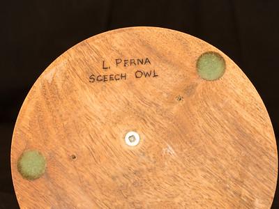 Screech Owl by L. Perna 7.75x5.5x5.5 inch