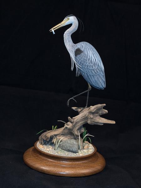 Great Blue Heron by M. K. Scheel 1993 7.75 x 4.25 x 4.25 inch