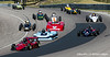 #7 red Super Vee Monoposto Start