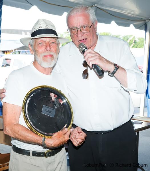 Gary Magwood receives Appreciation Plaque