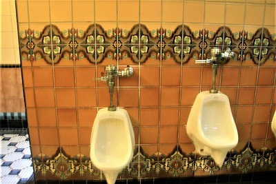 Ladies, this is what a typical men's restroom looks like.  Catalina was famous for making decorative tile in the 20's and 30's