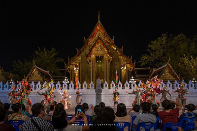 Khon Performance (Thai Pantomime) in the Story of Ramayana, the 150th Anniversary of Wat Ratchabophit