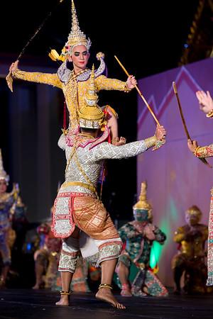 "Tribute Dance in Honor of HRH Princess Maha Chakri Sirindhorn, Dance Drama ""How Ganesha Loses His Tusk"" and Khon Performance of ""Sita Goes to War"" from the Adbhuta Ramayana"