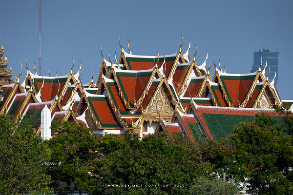 Grand Palace view from Wat Rakangkositaram