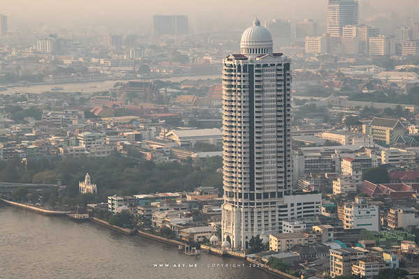 Bangkok view from Banyan Tree Residences Riverside