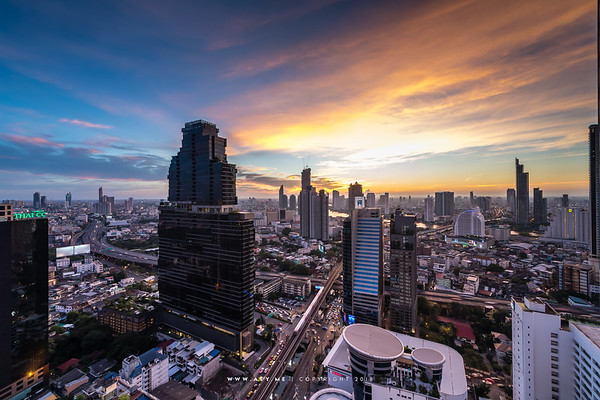 The Bangkok Sathorn and the Cityscape of Bangkok