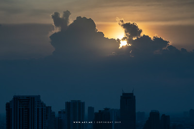 Sun, Colud & Sky over Bangkok & Thonburi