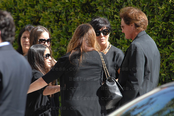 Catherine Bach at funeral of lawyer husband Peter Lopez. Her entertainment lawyer husband committed suicide in their Encino home last Friday. Catherine Bach stayed close to her two daughters Sophia,14 and Laura,11, at the Catholic Church in Santa Monica.