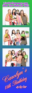 Carolyn's 18th Birthday 9/3/16 - EYE Photo Booth Photo Strips