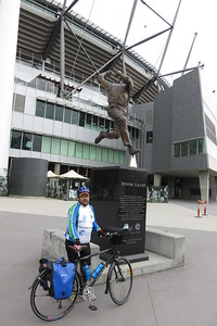 The great Dennis Lillee, and myself, at the MCG