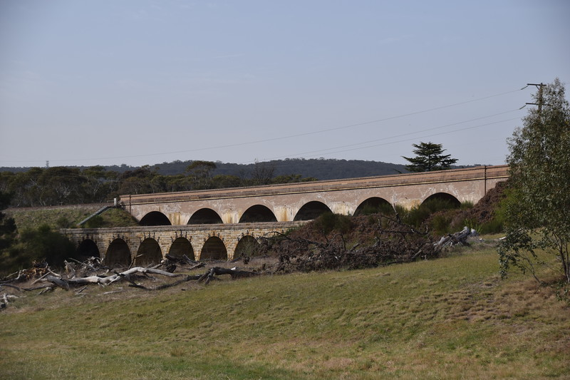 Railway viaducts. The older one is in the foreground.