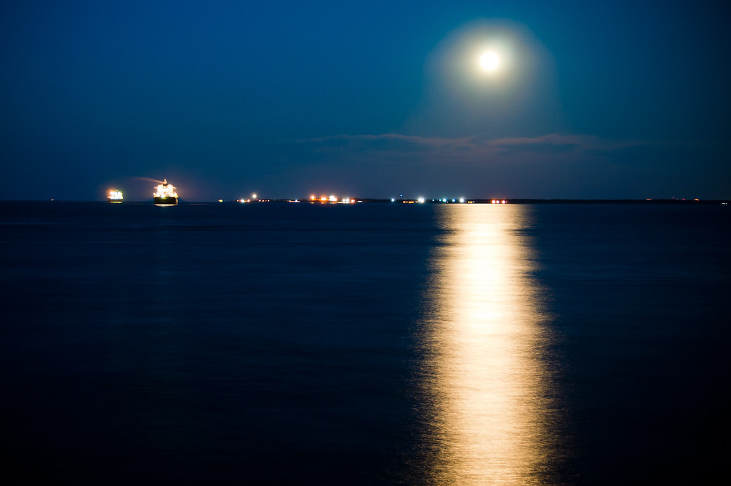 Moon Rise on the Bay
