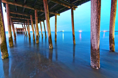 Under the Old Lynnhaven Pier