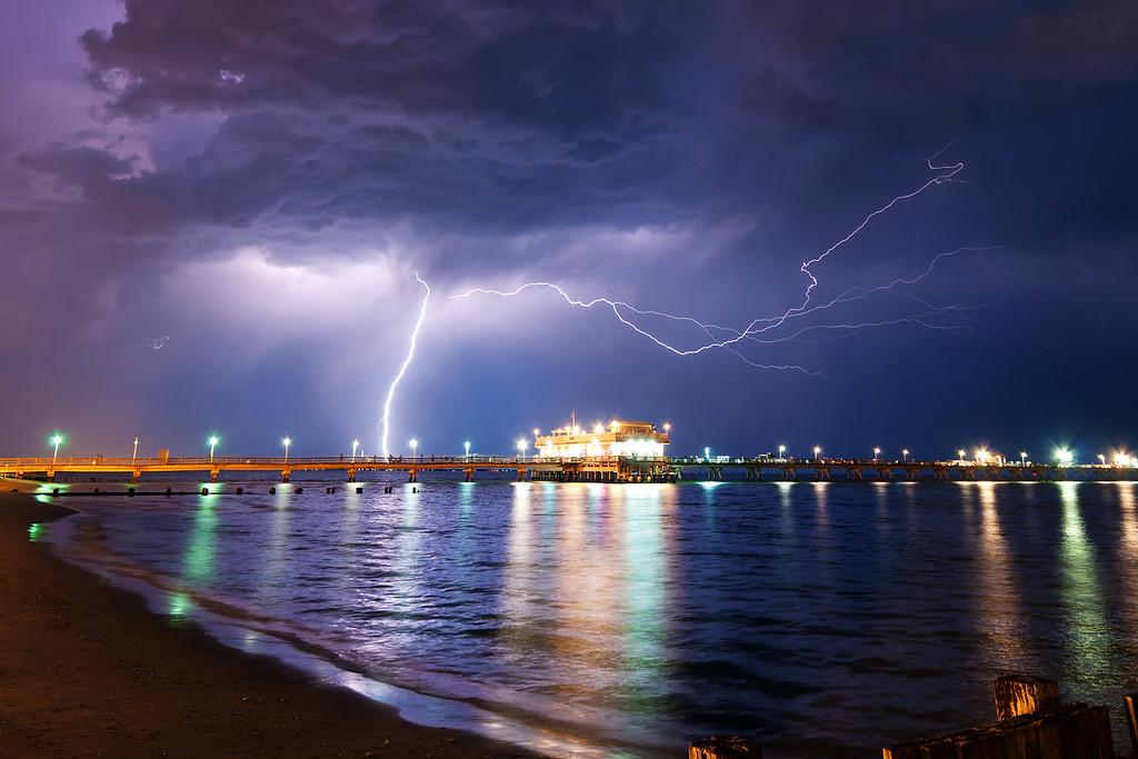 Lightning Storm Over The Chesapeake Bay