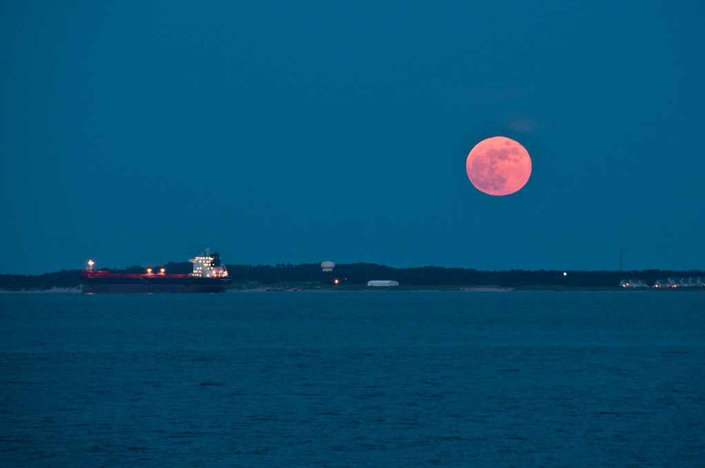 Moon Over Cape Henry