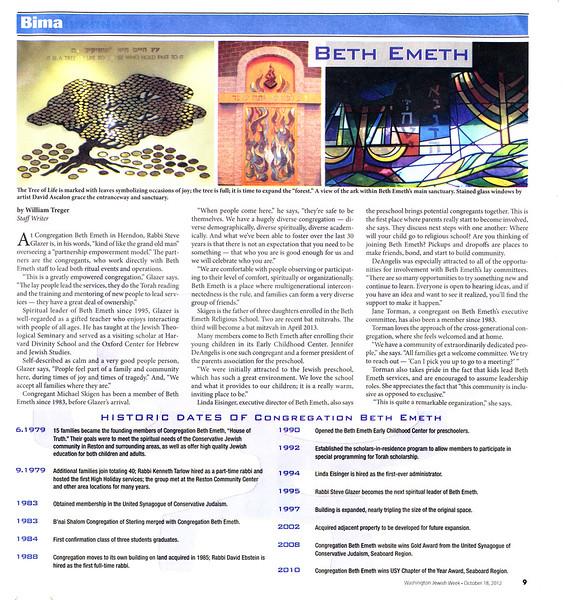 2012-10-18 - Jewish Week - CBE Feature