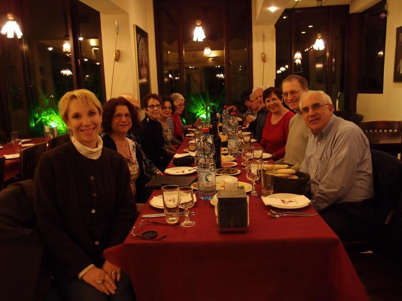 The Group at Dinner