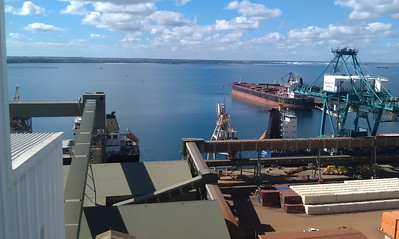 Overlooking the silos at CBH port terminal