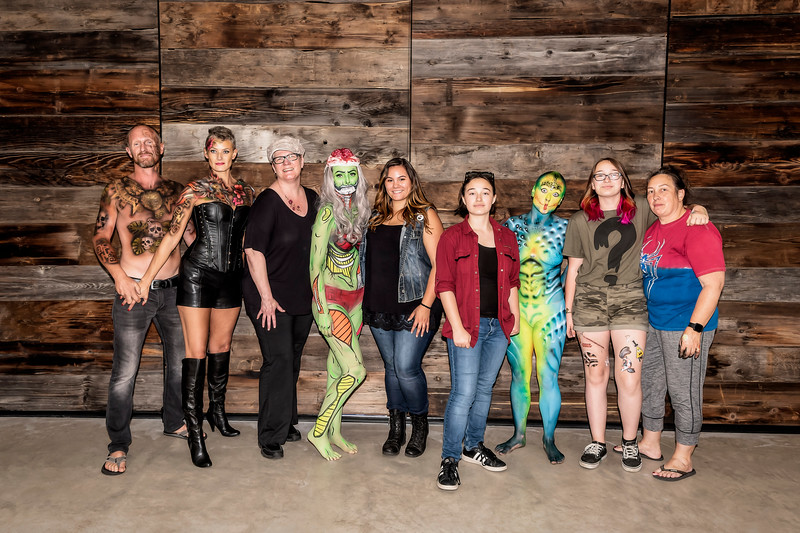 Body Paint Event July 2019 - Group Shot