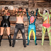 Body Paint Event July 2019 - Group Shot - Backs