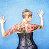 Body Paint Event July 2019 - Lorie Blue Wall Back